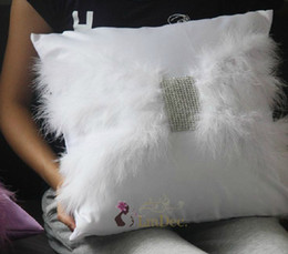 2019 coberturas de almofada de penas Atacado- # 706 Freeshipping Macrotrichia featherdiamond um sofá almofada almofada tampa traseira personalizar decoração de casa tecido desconto coberturas de almofada de penas