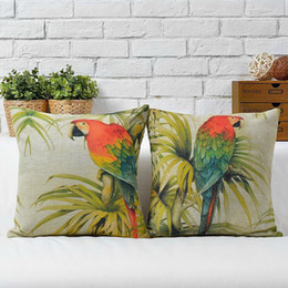 Wholesale Parrot Cushions Covers - Wholesale-Wholesale! Free Shipping 2pcs NEW European country Parrot pillow covers cushion sofa cushion 45CM X45CM
