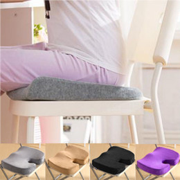 "Wholesale-""Deluxe Memory Foam Office Chair Back Ache Pain Orthopedic Seat Solution Cushion"