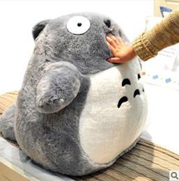 Wholesale Totoro Stuffed Toy Big - Wholesale-80cm 1Pcs Japan Anime Figure Giant Big Totoro Stuffed Plush Toys Doll Filled with PP Cotton Cute Design