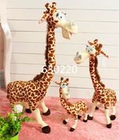 Wholesale Giant Giraffe - Wholesale-High quality Madagascar Melmen Toys giant stuffed Animal Plush 75cm cute giraffe Toys for children Free shipping
