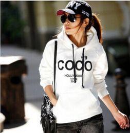 Wholesale Ladies Fashion Outwear - Wholesale-Women's Hooded Sweatshirts Outwear Hoodies Women Ladies Fashion Cartoon Coat Winter Clothes S,M,L,XL