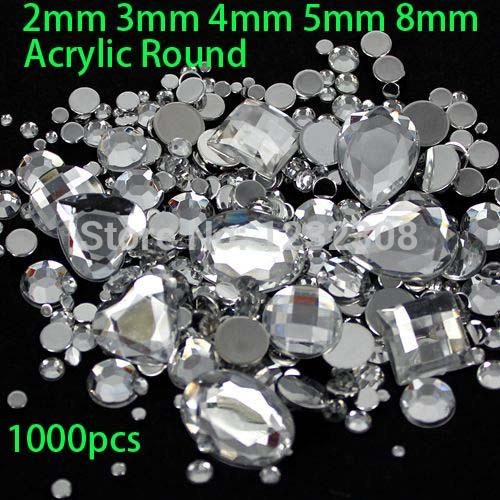 Wholesale Mix Sizes Crystal Clear Round Acrylic Loose Flatback Rhinestone  Nail Art Crystal Stones For Wedding Clothing Decorations Gems On Nails  Nails ... 58e3a4a16043