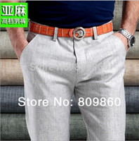 Wholesale Flax Pants - Wholesale-Free shipping!Men linen Casual pants Stretch Flax cotton casual trousers 29-40 5 colors