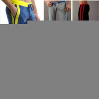 Wholesale Yoga Capris Size L - Wholesale-mens Full Length casual long pants sports trousers 2015 WJ brand cotton sexy sport new brand home gym wear yoga designer running