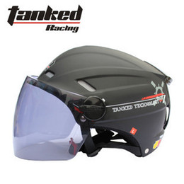 Wholesale Bike Helmets For Women - Wholesale-Free shipping Summer Helmet Motorcycle Helmet Tanked racing T501 E-Bike Half Face Helmet For Man and Woman German Quality