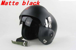 Wholesale Air Force Jet - Wholesale-New Motorcycle Scooter helmet & Air Force Jet PILOT Flight helmet Matte Blacks free shipping