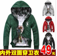 black male modeling - Semir men s modeling clothing autumn and winter hooded teenage lovers male cardigan sweatshirt outerwear