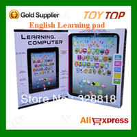 Wholesale English Ipad Toy - Wholesale-Hot New Retail Box English Ipad Toys Y pad ypad Children Early Learning Machine Tablet Computer For Kids (no light)