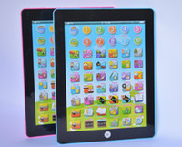 Wholesale Tablet Toy Portuguese - Wholesale-Free shipping for Portuguese kids baby Touch sound Educational Toy (Brazilian).Children Early computer tablet Learning Machine
