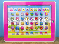 Wholesale Tablet Spanish Toys - Wholesale-Spanish Language Y-pad Early Ypad Early Learning Machine Spain Touch Computer PC Tablet Toy For Children Baby Kids Gift
