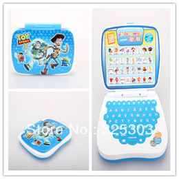 Wholesale Russian Toy Laptop - Wholesale-Hot sale!Laptop computer Children Learning Russian Machine For Baby kids educational Toy Woody for Children Free shipping 1pcs