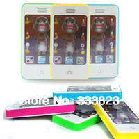 Wholesale Iphone Learning Machine - Wholesale- 2015 New Free Shipping Children Iphone 4S Model Cell Phone Toy , Kid Learning Machine, IPhone4s Educational Toys Free Shipping