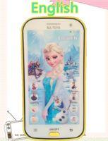 Wholesale Children Intelligent Learning Machine - Wholesale-English language elsa princess educational mobile phone toy, intelligent dolls electronic pets learning machine for child kids