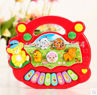 Wholesale Electrical Piano Musical Toys - Wholesale- High quality Baby Kid's Popular Animal Farm Piano Music Toy Learning & Education Electrical Keyboard Developmental Piano