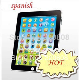 Wholesale Tablet Spanish Toys - Wholesale-New Arrial Y Pad Spanish Language Learning Machine For Kids Touch Computer Tablet Funny Pad Spanish Educational Toys