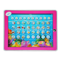 spanish learn free - Spanish and English teaching press button plastic screen learning ABC toy computer toy tablet pc toy