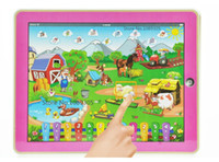Cheap Wholesale-Farm Learning Machine educational Laptop Toy Ipad Table Computer Interactive Electronic Toys For Kids Free shipping