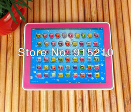 Wholesale 3d Pad Educational - Wholesale-Retail and Free Shipping Newl 3D Y Pad English Tablet Touch Educational toy for kids,Pink&Blue Mixed,YPad with music and