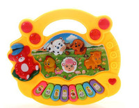 Wholesale Electrical Piano Musical Toys - Wholesale-Free Shipping Kid's Popular Animal Farm Piano Music Toy Electrical Keyboard Developmental Piano Toy #2010