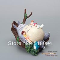 Wholesale Miyazaki Action - Wholesale-Free Shipping Hayao Miyazaki Totoro PVC Action Figure Toy MHFG006