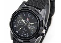 relojes gemelos al por mayor-Al por mayor-moda Gemius reloj suizo del ejército lona Mens Boys análogo de cuarzo Sport reloj de pulsera de transporte gratuito