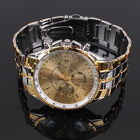 Wholesale Rosra Watches Gold - Wholesale-2016 new watch Wholesale gold plated quartz wrist watches men luxury brand Rosra jewelry high quality relogio masculino