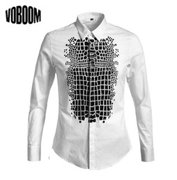 Wholesale Mens White Dress Shirt Buttons - Wholesale-Luxury Brand New Designer Men Mens Casual Cotton Men's Dress Long Sleeve Button Shirt Slim Fit Clothes Man Shirts Big