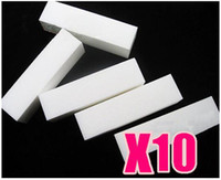 Wholesale Gel Nail Buffers - 10 x White Buffer Blocks File Gel Acrylic Nail Art