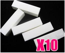 Wholesale Nails File Acrylic - 10 x White Buffer Blocks File Gel Acrylic Nail Art