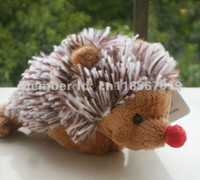 Wholesale Toy Magnets For Fridge - Wholesale-Free shipping   NICI Red nose hedgehog Fridge Magnet Fridge Magnet Stuffed animal stof toy best gifts for you