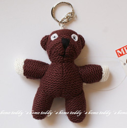"""Wholesale Doll Beans - Wholesale-Free Shipping Mr. Bean Teddy Bear Keychain 4.5"""" plush toys Doll gifts"""