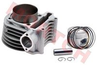 Wholesale Gy6 Scooter Big Bore Kits - Wholesale-180cc(GY6 Big Bore) High Performance Cylinder Kits for 125cc 150cc (61mm) for Scooter ATV Go Karts Moped Free Shipping