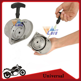 Wholesale-Grey Alloy Motorized Bicycle Pull Starter 49cc 60cc 66cc 70cc 80cc 2 Stroke Engine Pull Start Scooter Motorcycle Mini Quad ATV