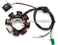 Wholesale Engines For Kart - Wholesale-In Stock 8 coil Magneto Alternator Stator for GY6 125cc 150cc 152QMI 157QMJ Chinese Scooter Moped ATV Go Kart Quad Engine (3+2)