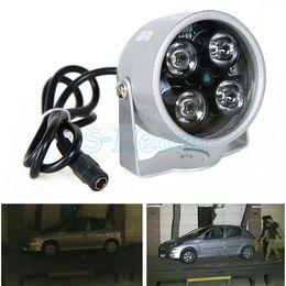 Wholesale Light Ir Illuminator - Wholesale-Wholesale Infrared Night IR Lamp Security Light vision 4LED CCD 50M Waterproof Outdoor illuminator Drop Shipping 31