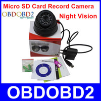 Wholesale Cctv Camera Tf Card - Wholesale-2015 New Arrival Indoor CCTV Camera 700tvl With 24 Leds TF Micro SD Card Record Night Vision Easy Use Home Security Camera