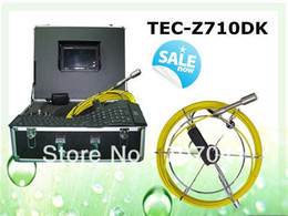 Wholesale Pipe Camera Keyboard - Wholesale-40M cable sewer pipe inspection camera with DVR&Keyboard TEC-Z710DK