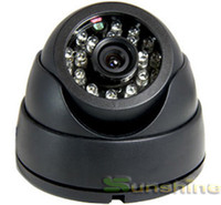 Wholesale Nightvision Dome - Wholesale-2015 Real CMOS 700TVL !!! 24LED IR Nightvision 2.8mm Lens Wire View Indoor Dome Camera CCTV Camera Free Shipping