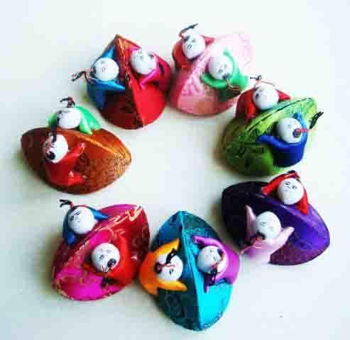 2018 Creative Small Shell Child Gift Box Vintage Cute Silk Brocade