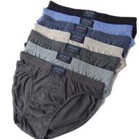 Wholesale Cheapest Underwear Men - Wholesale-Cheapest !XL 3XL 4XL 5XL super big size 100% Cotton Mens Briefs XXXL Plus Size Men Underwear briefs Breathable Panties 8pcs bag