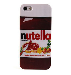 Wholesale Smoothing Plastic Phone Case - Wholesale-Nutella Design Smooth Hardened Plastic Phone Case for iPhone 5 5S Free Shipping