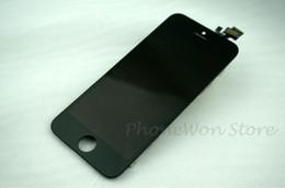 Al por mayor-Nueva Original LCD OEM iPhone 5 Pantalla de repuesto Pantalla LCD Touch digitalizador frontal Fascia Glass 5th Gen 5 Envío rápido Venta desde fabricantes