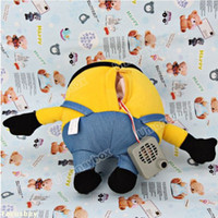 Wholesale Despicable Talking - Wholesale-Good High quality Hot selling Super Likable Cartoon Single Eye Despicable Me Copy Voice Pet Recorder Talking Plush Toy - Yellow