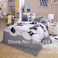 Wholesale Minnie Mouse Queen Comforter - Wholesale-Top Queen Size Mickey Mouse Bedding,Minnie Mouse Bedding Sets,Mickey and Minnie Bedding Duvet Comforter Cover Sets for Kids