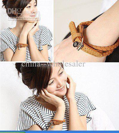 HOT Ceinture Style Boucle En Cuir Bracelet Bracelets De Mode Enroulement Weave Femmes Bijoux Nouvelle Arrivée /