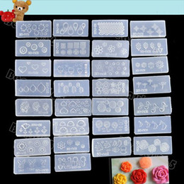 Wholesale 3d Decals For Nails - Wholesale-Hot Wholesale 30pcs Acrylic 3D Nail Art Mold For Nail Stickers Art Decoration Design DIY SET Free Shipping 36