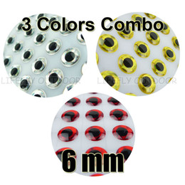 Wholesale Made Fly Fishing Lure - Wholesale-6mm, 3 Colors Combo   900pcs Soft Molded 3D Holographic Fish Eyes, Fly Tying, Jig, Lure Making