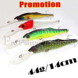 Wholesale Deep Diving Minnow - Wholesale-Fishing Lure Pesca Artificial 3pcs 44g 14cm deep diving Floating suspending slow sinking Trout Trolling Minnow Fishing Lure