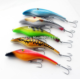 "Soft Bait Pike Canada - Wholesale-5pcs lot Zalt MUSKY MUSKIE PIKE RARE ODYSSEY 5"" PIGLET PIG JERK BAIT FISHING Lure Bait 140mm 34g 3D Eyes Free Shipping"
